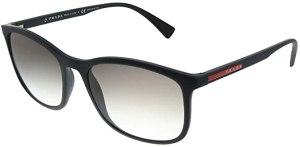 Prada Sport occhiali da sole quadrati di gomma in grigio nero PS 01TS DG00A7 56