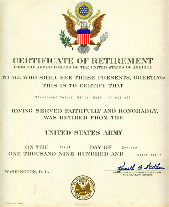 Navy Retirement Certificate Template Image collections ...