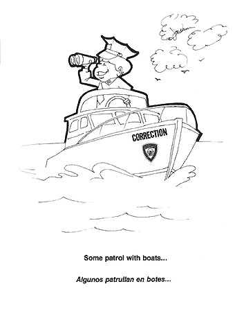 'Officer Correct' coloring book