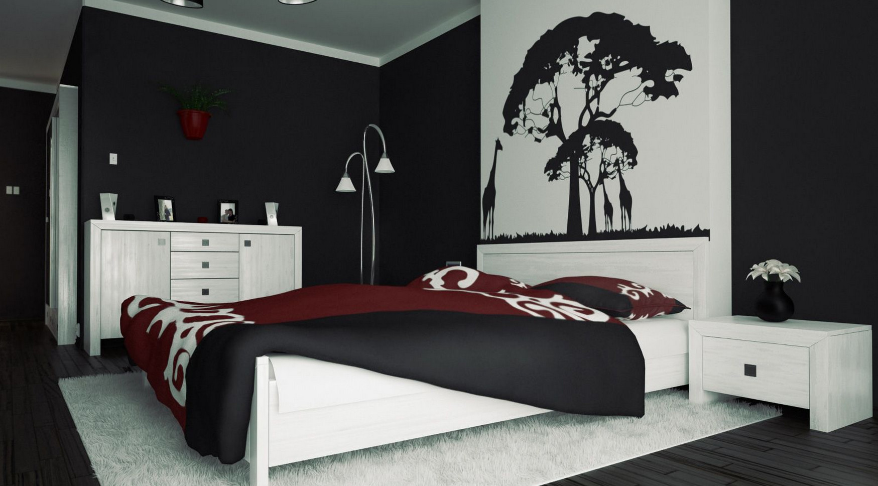 Red and Black Wall Painting Ideas  Interesting Ideas for Home