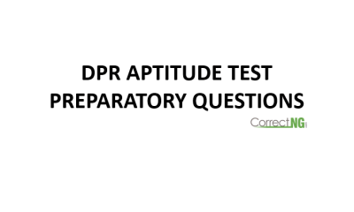 DPR past question and answers