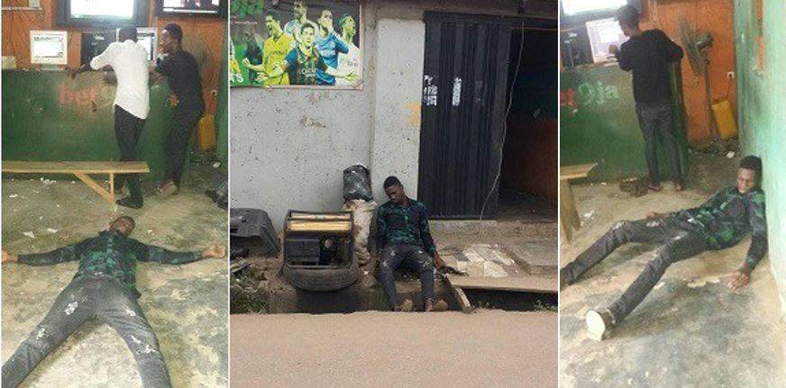 Nigerian guy faints in Bet9ja shop after Chelsea and Man Utd spoilt his ticket yesterday