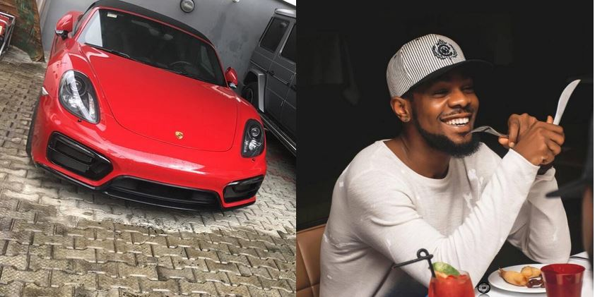 Patoranking flaunts his newly acquired Porsche car on social media, calls it 'New Baby' (Photos)