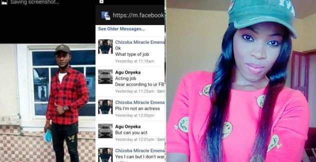 Nigerian lady cries out after connecting a thief who disguises as a movie producer on Facebook to her friend (Screenshots)