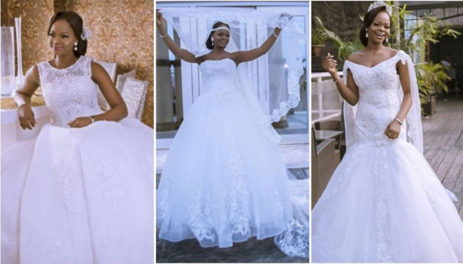 Olajumoke Orisaguna looks delectable in wedding dress photoshoot
