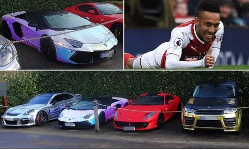 Pierre-Emerick Aubameyang imports  flashy super-cars from Germany (Photos)