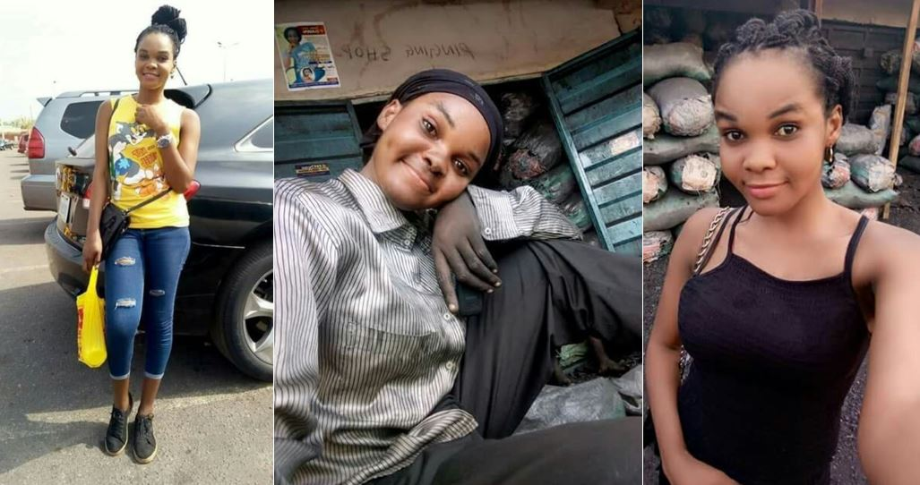 Checkout this beautiful female graduate who sells charcoal for a living