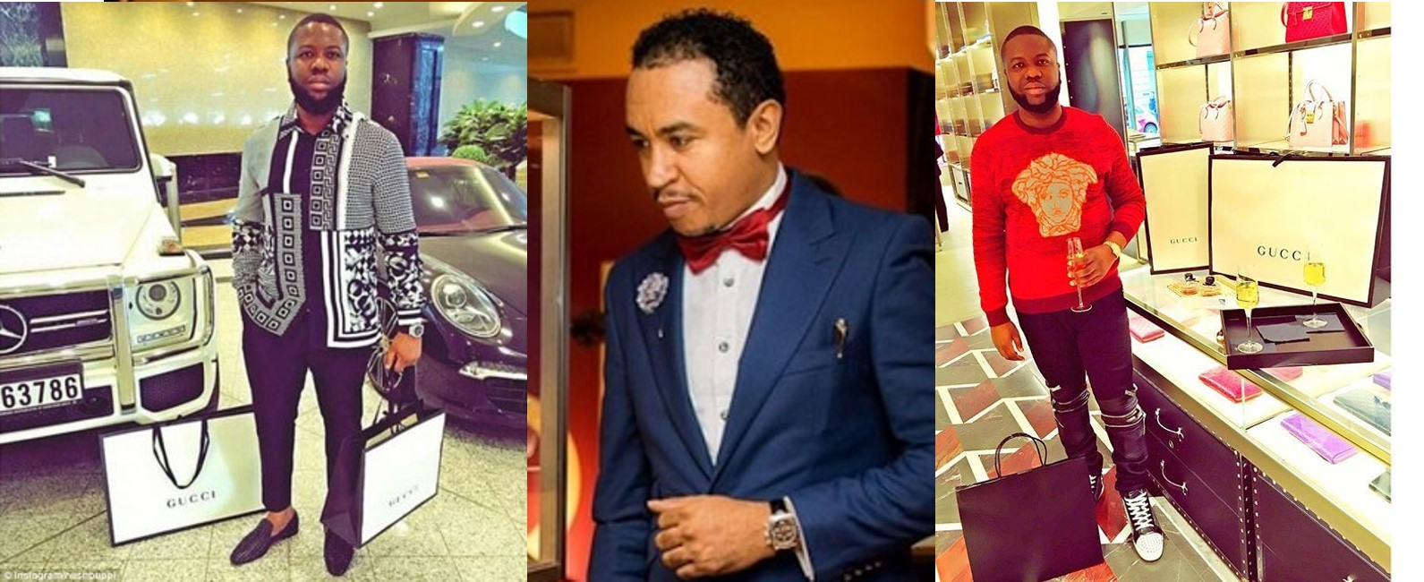 Hushpuppi reacts to Daddy Freeze calling out celebrities showing off fake products