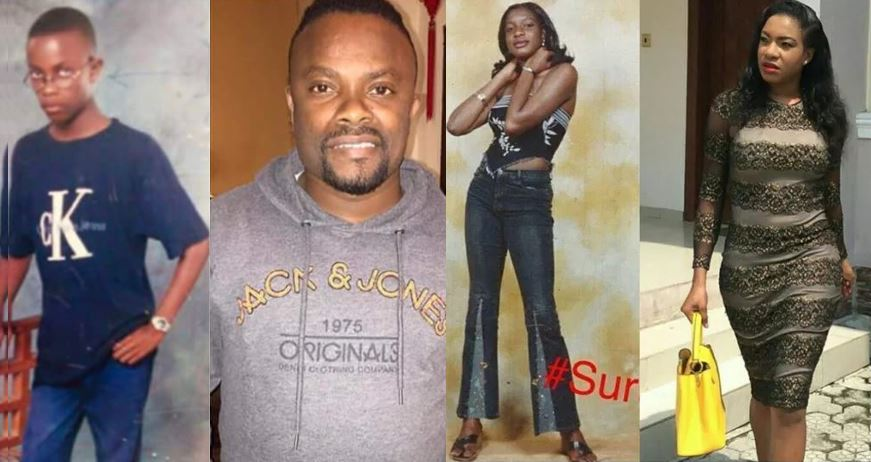Throwback photos of some Nigerian celebrities that would crack you up (before and after they became famous)