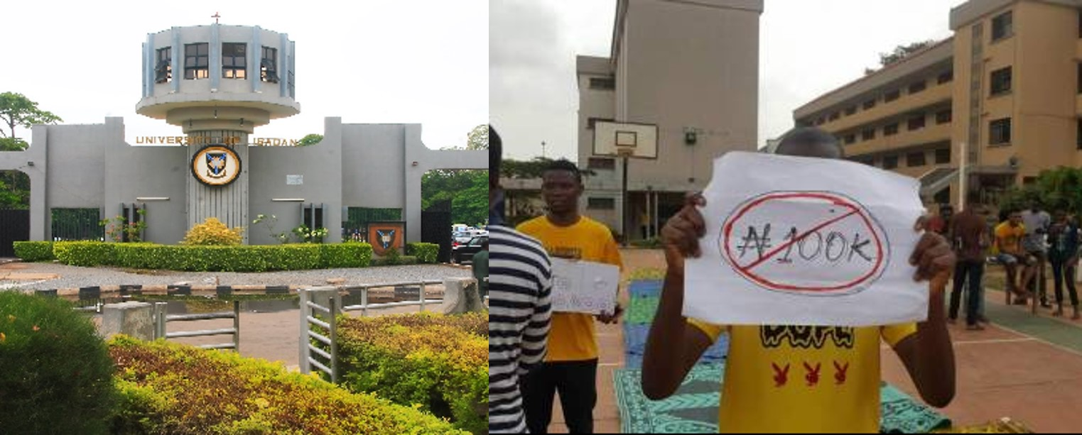 University of Ibadan medical students protest N100,000 new professional training levy
