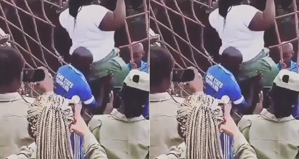 Viral: Video of corp members helping their plus-sized colleague climb the rope ladder by pushing her butt