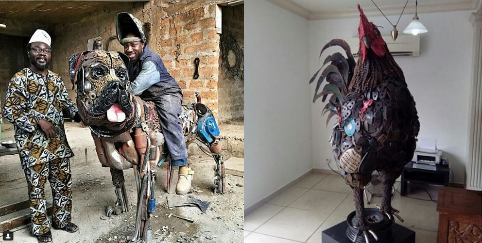 Talented artist shows off amazing inanimate animals he created from scrap metals (Photos)