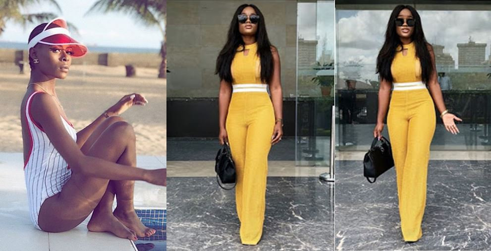 """Our Own Kim K"" – Khloe gushes on Cee-c as she slays in yellow jumpsuit"