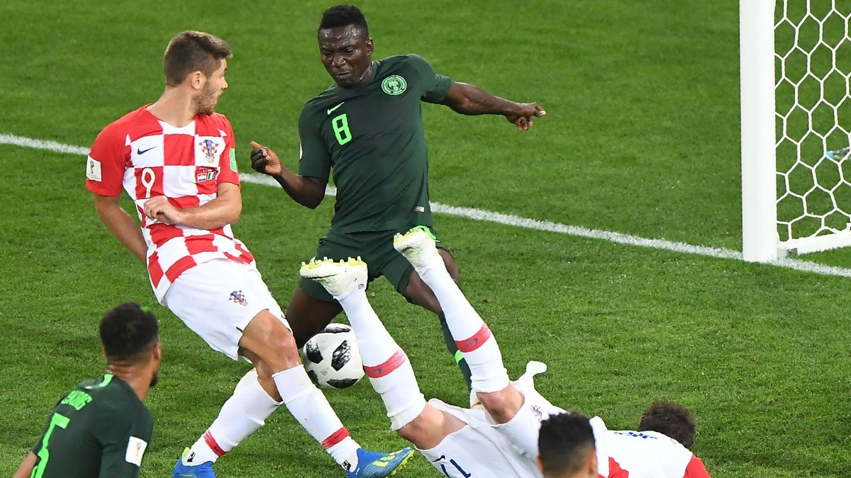 Russia 2018:  Etebo Replies A Fan Who Said He Played Rubbish Against Croatia