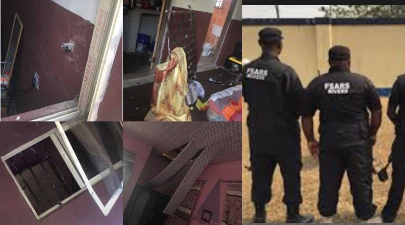 SARS officers allegedly invade hostels at Adekunle Ajasin University in Ondo State at 4am (Photos)