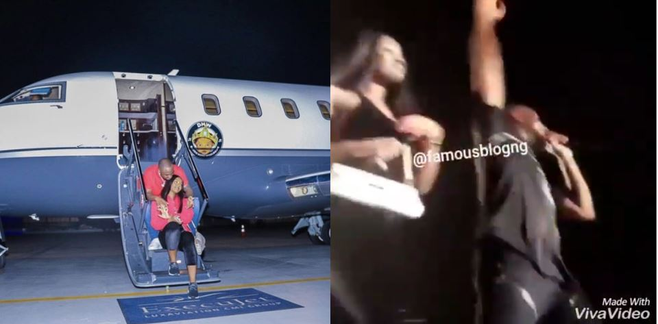 Davido brings Chioma on stage while performing 'Assurance' in Cotonou (video)