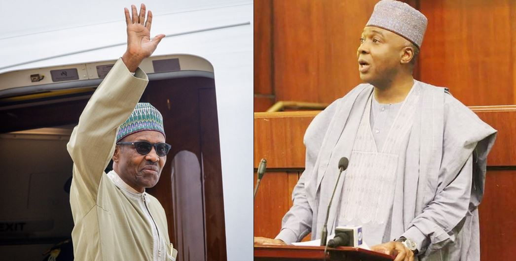 President Buhari Replies PDP About Him Planning To Impeach Saraki While In London