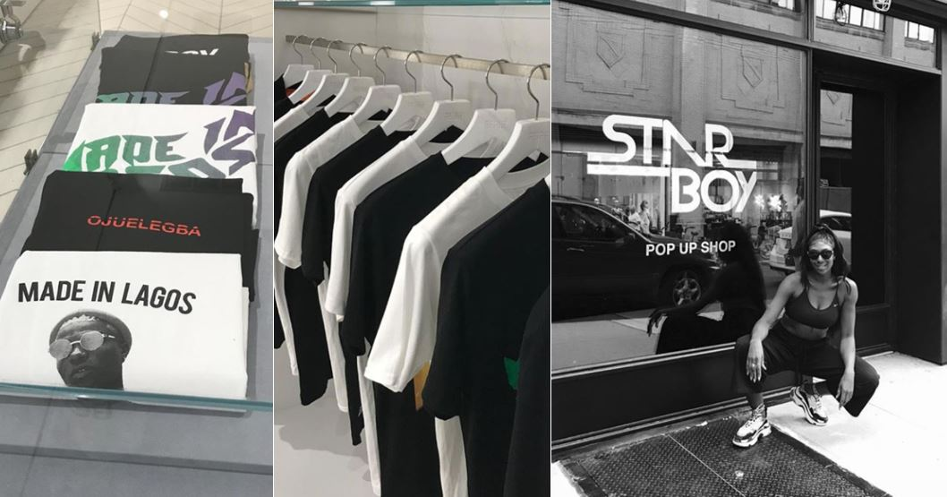Wizkid Opens StarBoy Pop-Up Shop In New York For New Cloth Collection (Photos)
