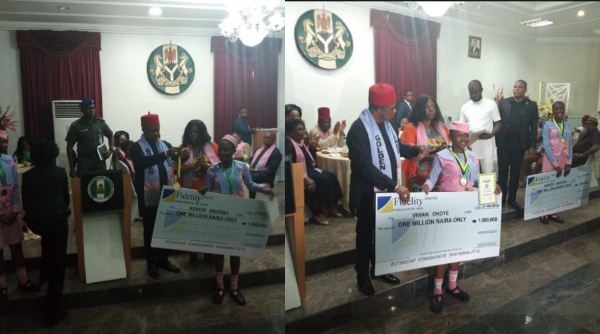Gov Obiano gives one million each to Anambra Schoolgirls who won tech competition