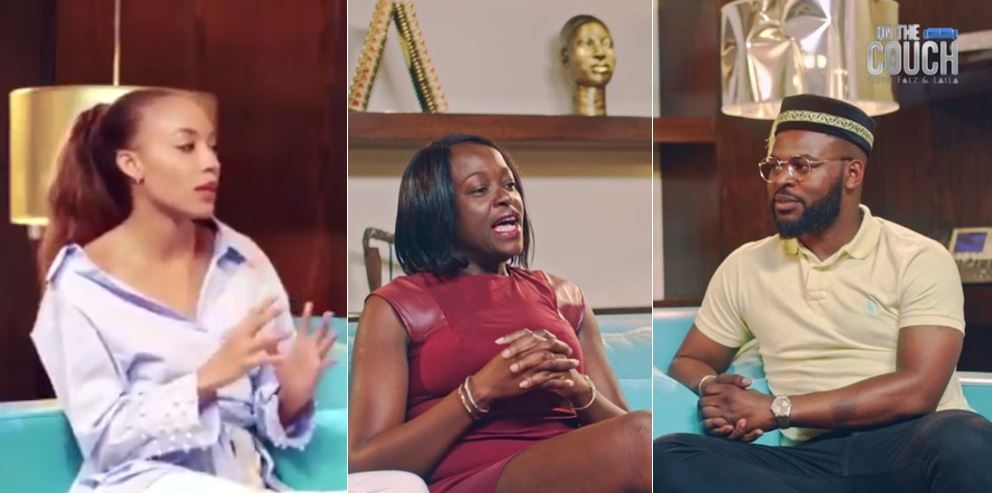 Falz and Laila blasted for forcing their feminism opinion on presidential aspirant, Eunice Atuejide (Video)