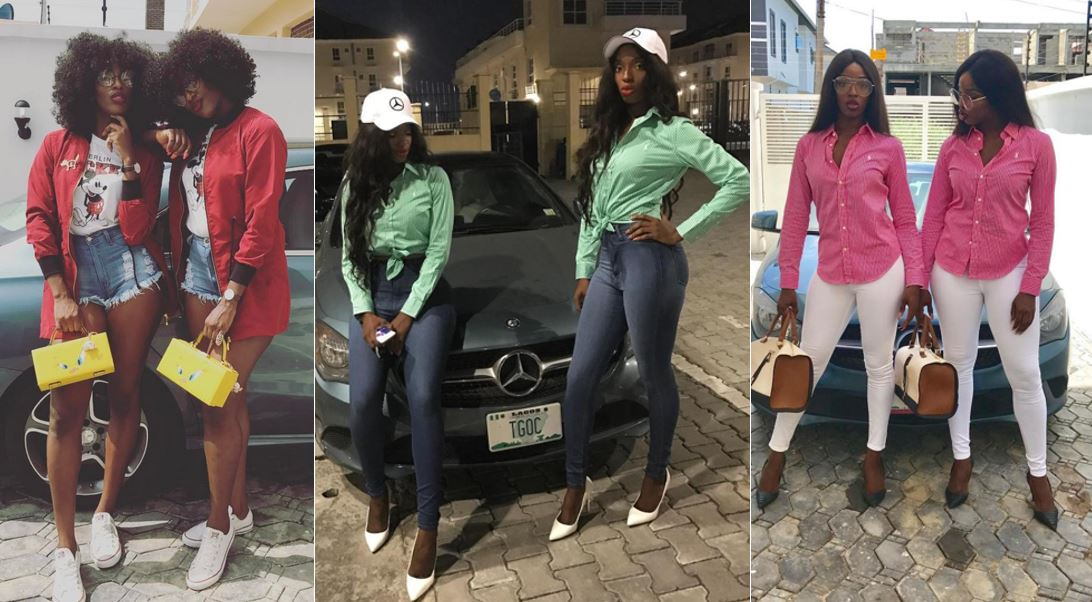 Meet this beautiful and lovely Nigerian identical twin sisters that wear the same outfit everyday (Photos)
