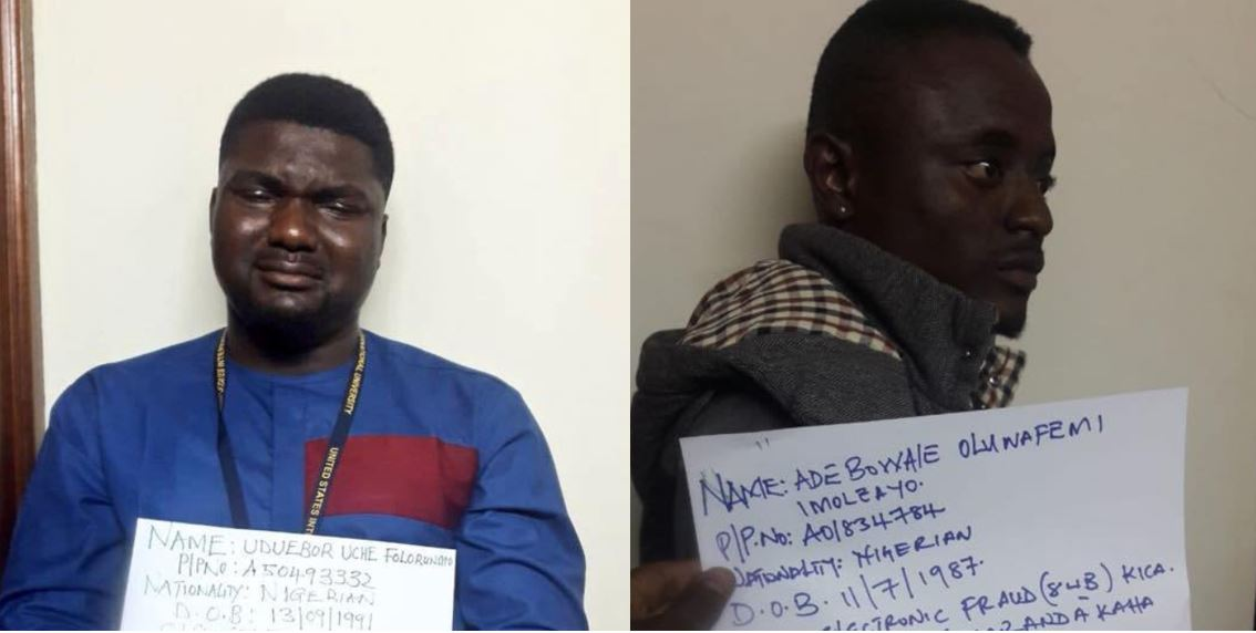 Nigerian Yahoo Boy breaks down in tears after being arrested in Kenya