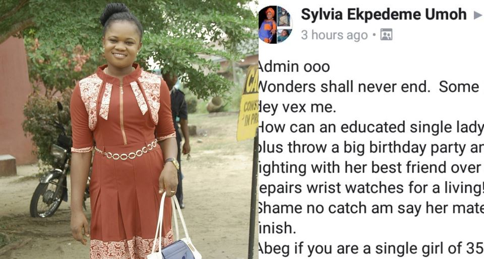 """""""If you are a single girl of 35 and above and you are still celebrating birthdays, shame on you"""" – Nigerian lady says"""