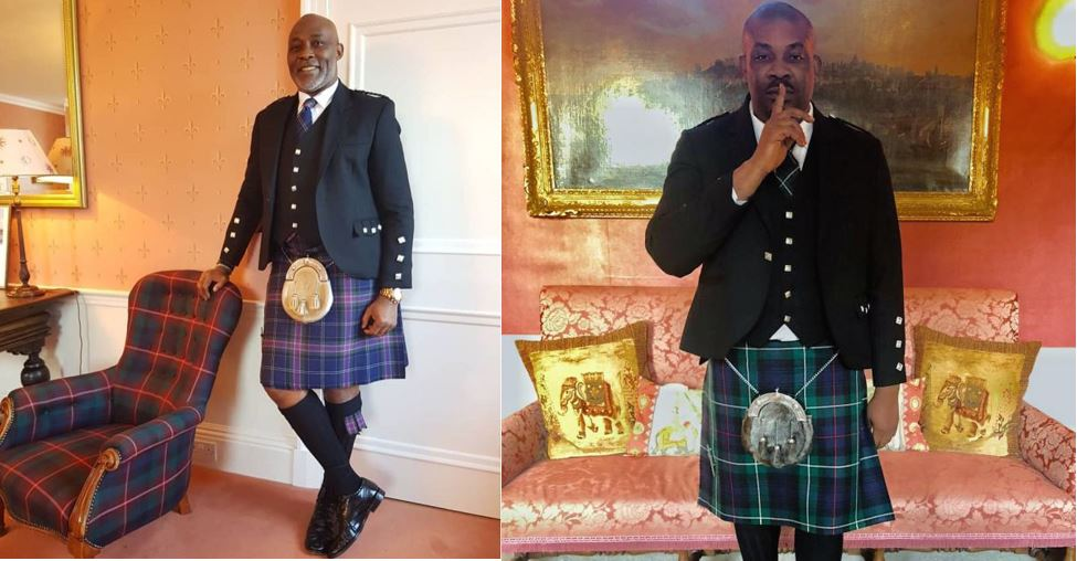 Image result for RMD Vs Don Jazzy: Who rocked the Scottish kilt better? (Photos)