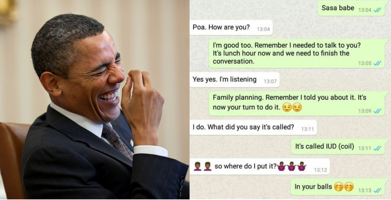 Funny Chat Conversation between a Nigerian lady and her husband after she suggested he goes for family planning