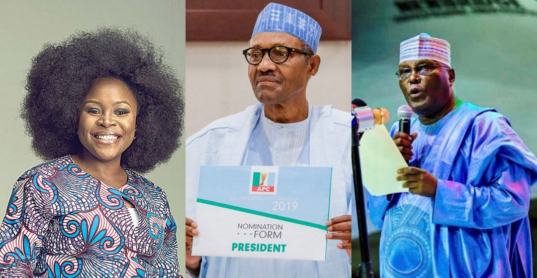 Omawumi Calls Out Two Leading Presidential Candidates On Stage (Video)