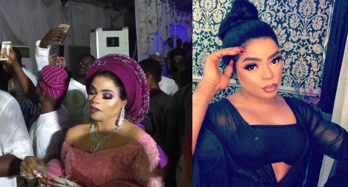 Bobrisky spraying money at wedding one week after CBN declared it as a punishable offence (Video)