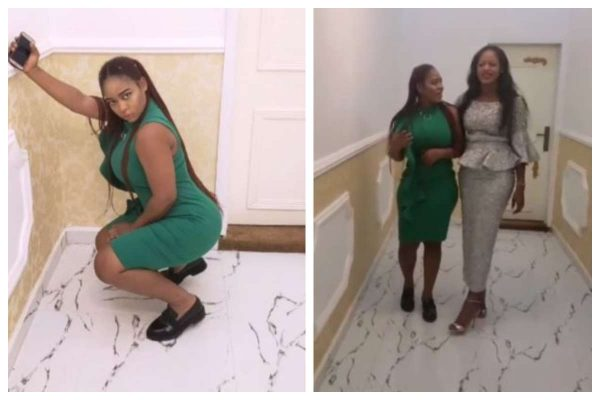 Ooni of Ife's wife and kid sister catwalk in the palace (Video)