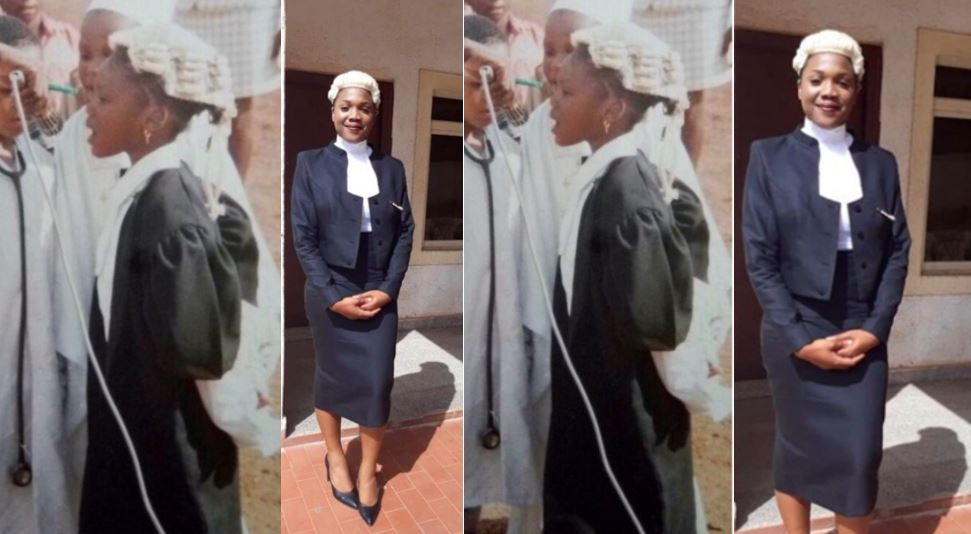 Young Nigerian lady becomes a lawyer many years after she dressed as one for her primary school's career day