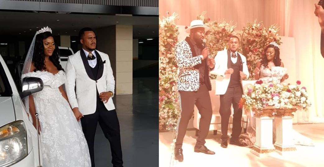Photos from the white wedding of Nollywood actor, Michael Okon
