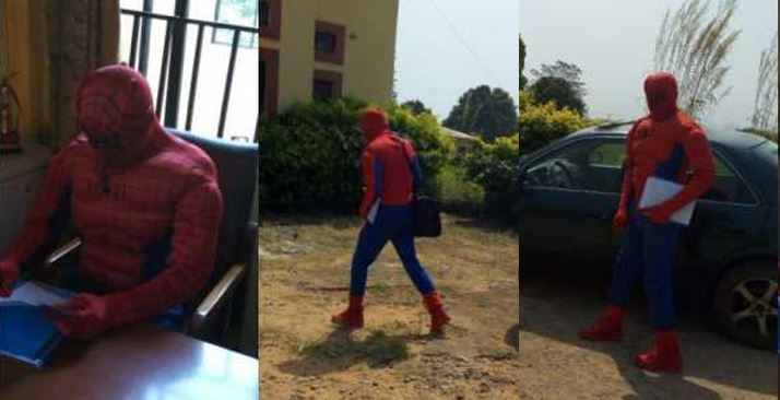 Nigerian lecturer disguises as Spider Man to attend to students as ASUU strike continues