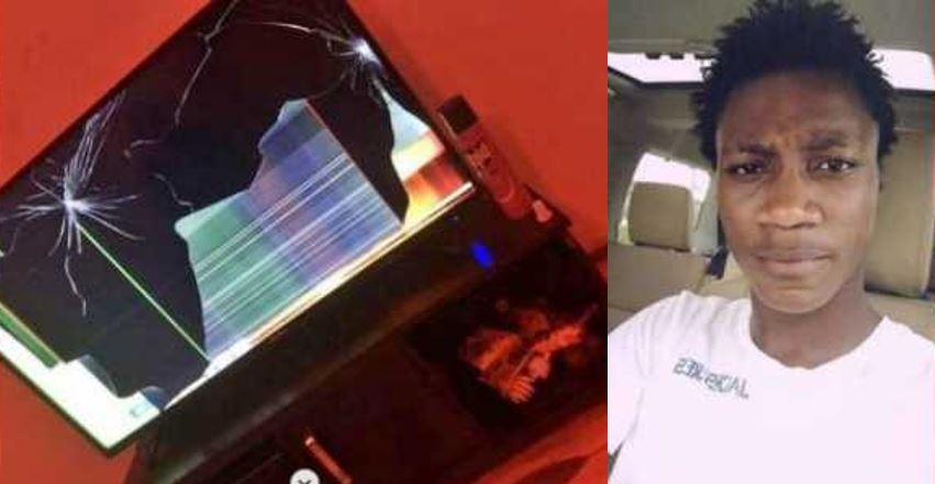 Nigerian man breaks his friend's TV because he switched channel during a Champions League game