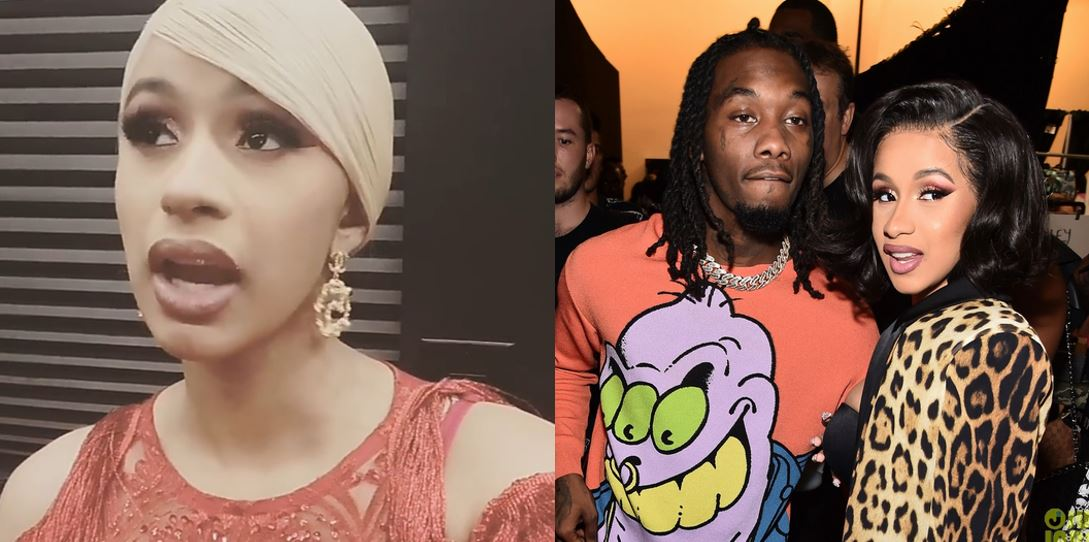Cardi B Reacts To Offset's Public Apology As She Asks Her Fans To Stop Hating On Her Baby Daddy (Videos)