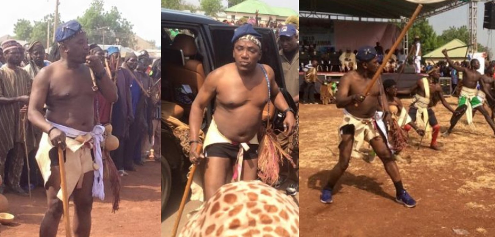 Minister of sports, Dalung steps out in style for a carnival (Photos)