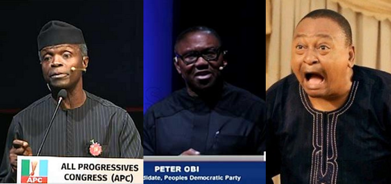 'Where we were where were where' – Nigerians react to the 2019 Vice Presidential Debate (Screenshot)