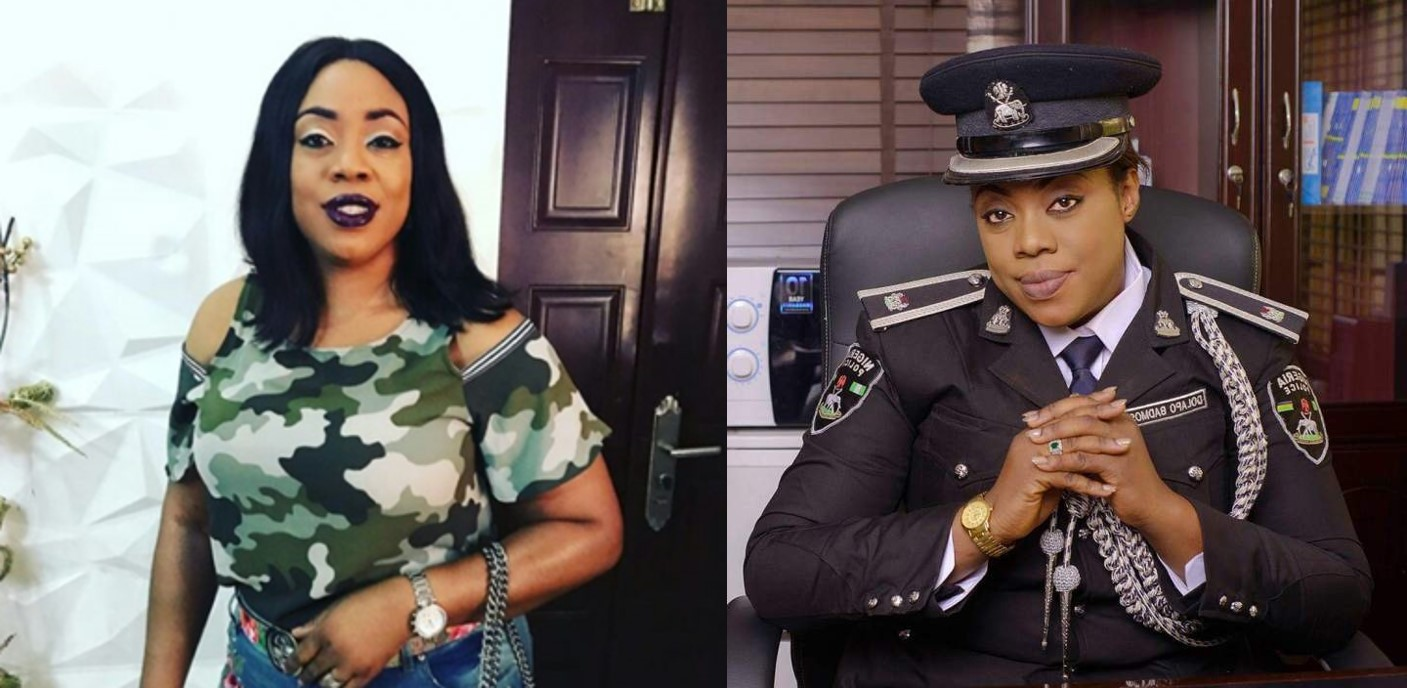 Nigerians react as police officer, Dolapo Badmos steps out wearing a military camouflage