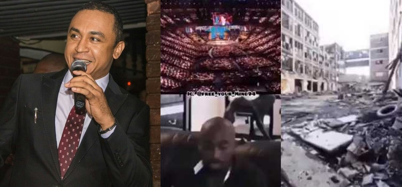 Daddy freeze blasts Nigerian pastors with 2Pac's question 'if God needs 100,000 seater church buildings or shinny gold ceilings to talk to them' (Video)