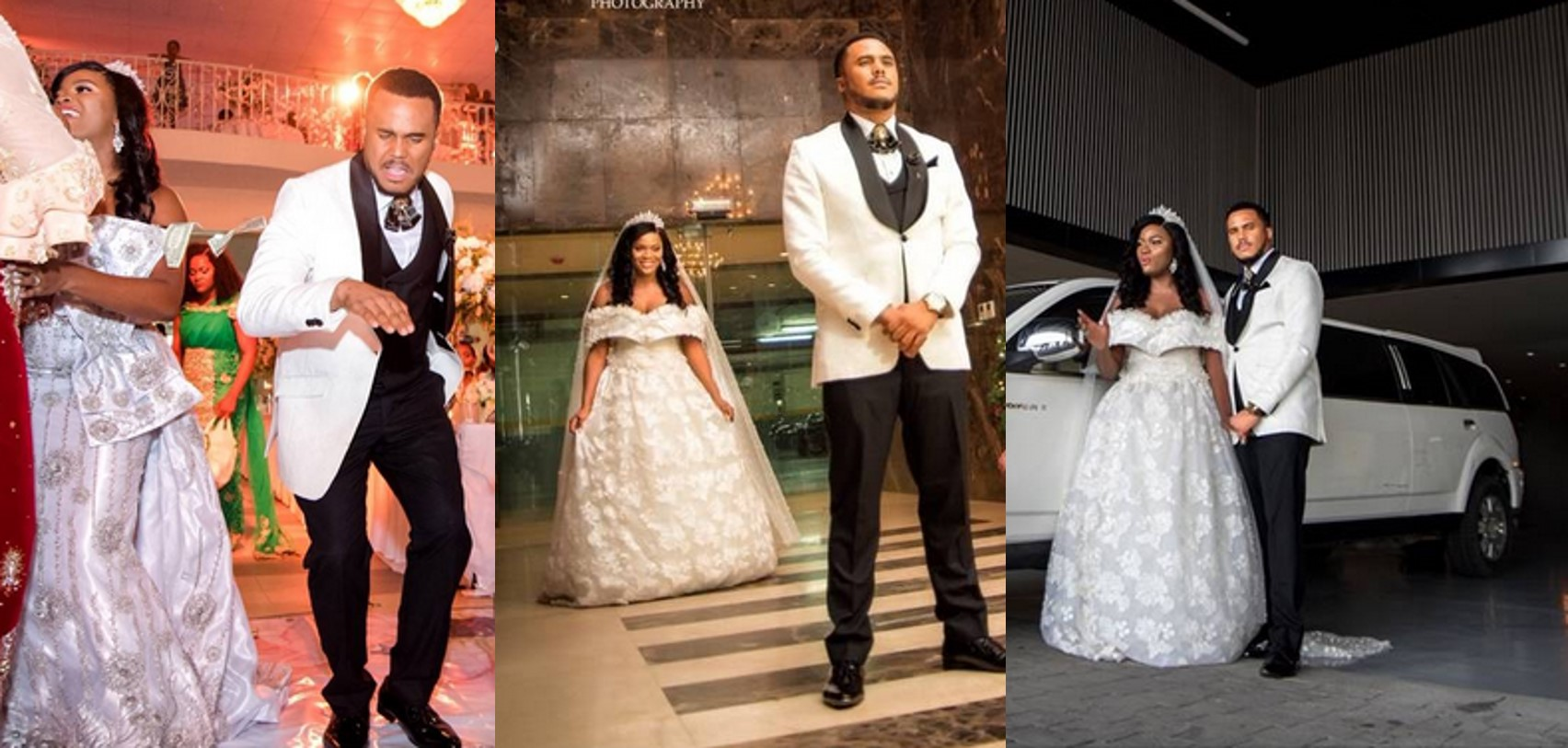 Photos from handsome Nollywood actor, Michael Okon's white wedding in Lagos