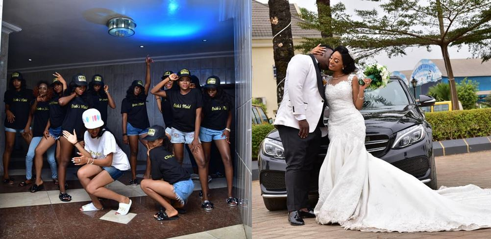 """A relationship of 7years that started at a Motorpark has been sealed"" – Nigerian lady says as she shares beautiful photos from her wedding"