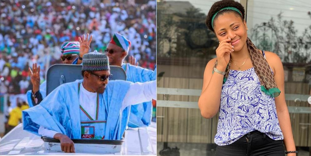 Teen Actress, Regina Daniels blasts Buhari as she is appointed Youth campaign coordinator for Atiku