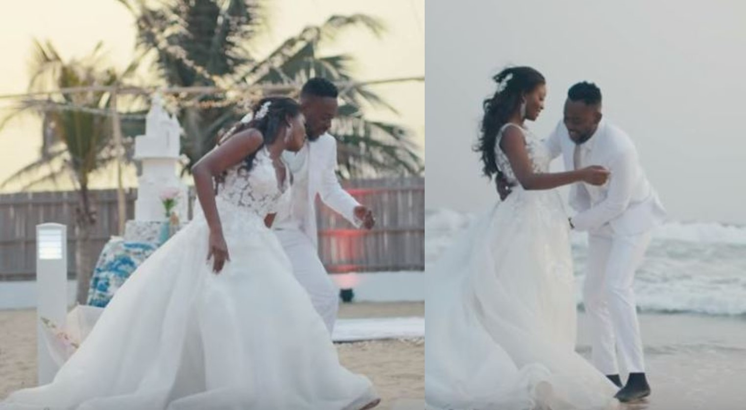 Official: Singer Adekunle Gold and Simi release long awaited wedding video (Photos/Video)