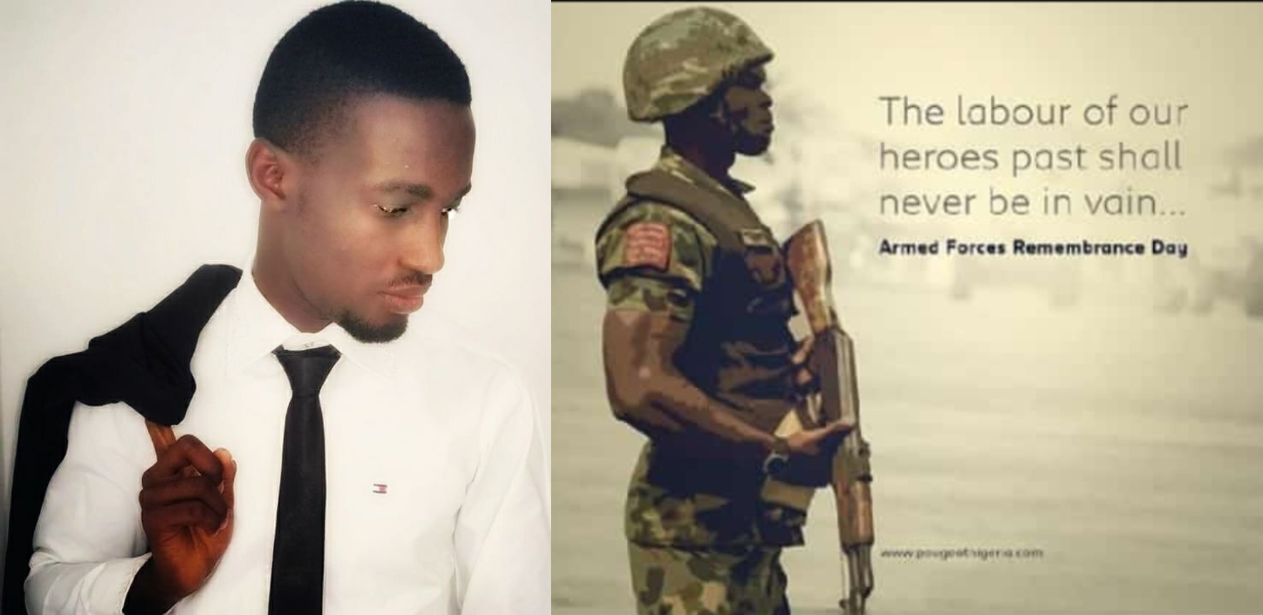 #ArmedForcesRememberanceDay2019:  Thank you to guardians unknown for offering yourselves for us all – Nigerian guy pen down a lovely piece to our fallen heroes