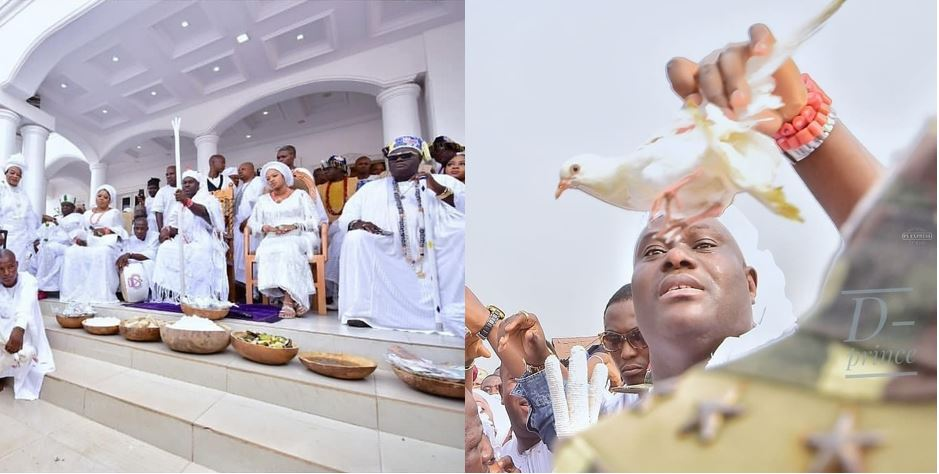 Photos from Aje Festival hosted by Ooni of Ife and his wife, Olori Prophetess Naomi