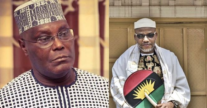 IPOB leader, Nnamdi Kanu advises Atiku on how to reclaim his allegedly stolen mandate