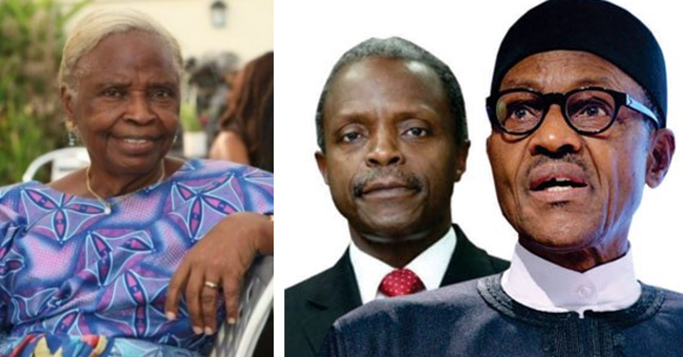 """""""They have tried"""" – VP Osinbajo's mother speaks on those that say Buhari's government hasn't done anything"""