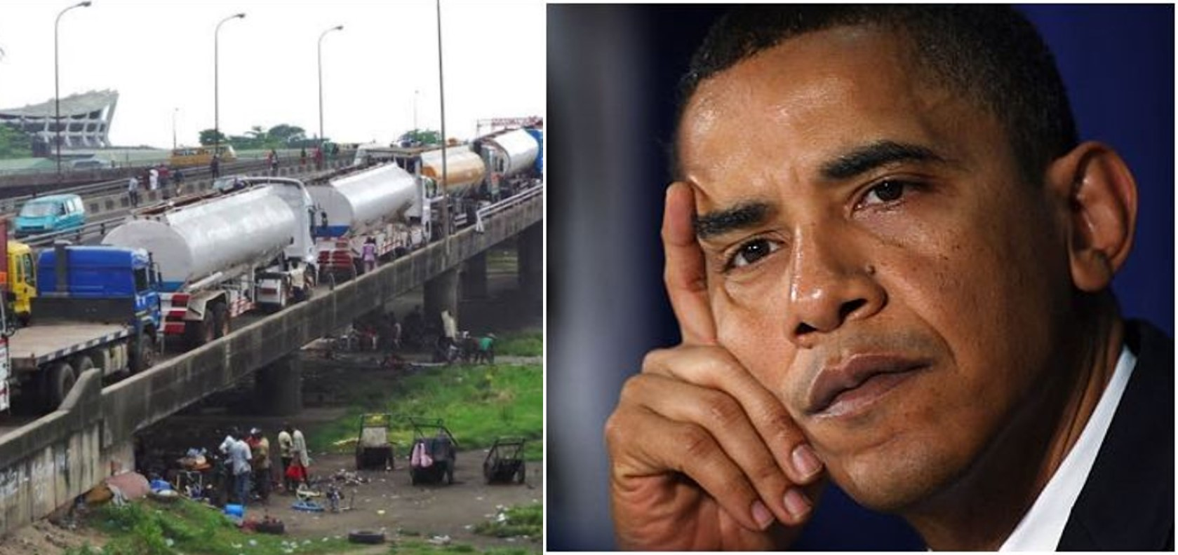 Lagosians angrily react as tankers and containers mysteriously disappear from Ikorodu road ahead of President Buhari's Saturday visit